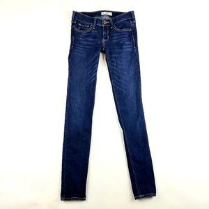 Womens Hollister Dark Wash Skinny Jeans Size 0